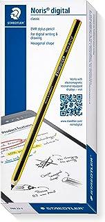 Staedtler 180 22-1 Stylus Norisデジタル六角形(EMRテクノロジー、魅力的なNorisストライプデザイン、エルゴノミックソフトサーフェス、ファイン0、7 mmチップ)イエロー - ブラック