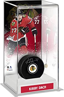 Kirby Dach Chicago Blackhawks Autographed Puck with Deluxe Tall Hockey Puck Case - Fanatics Authentic Certified