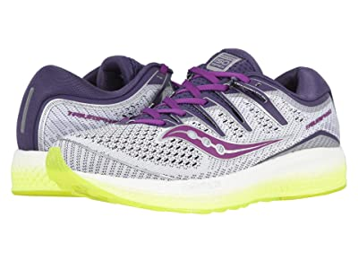 Saucony Triumph ISO 5 (White/Purple/Citron) Women