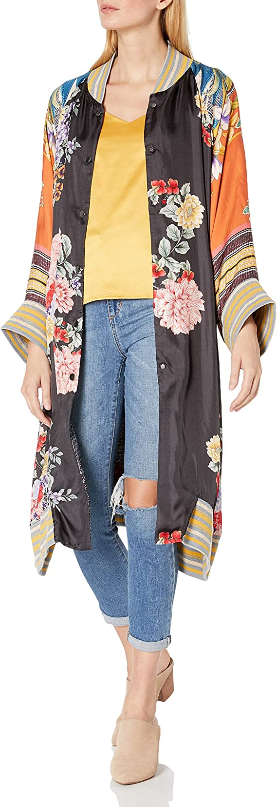 Johnny Was Women's Printed Long Sleeve Fashion Jacket