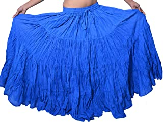 Wevez 12 Yard American Tribal Gypsy Belly Dancing Cotton Skirt