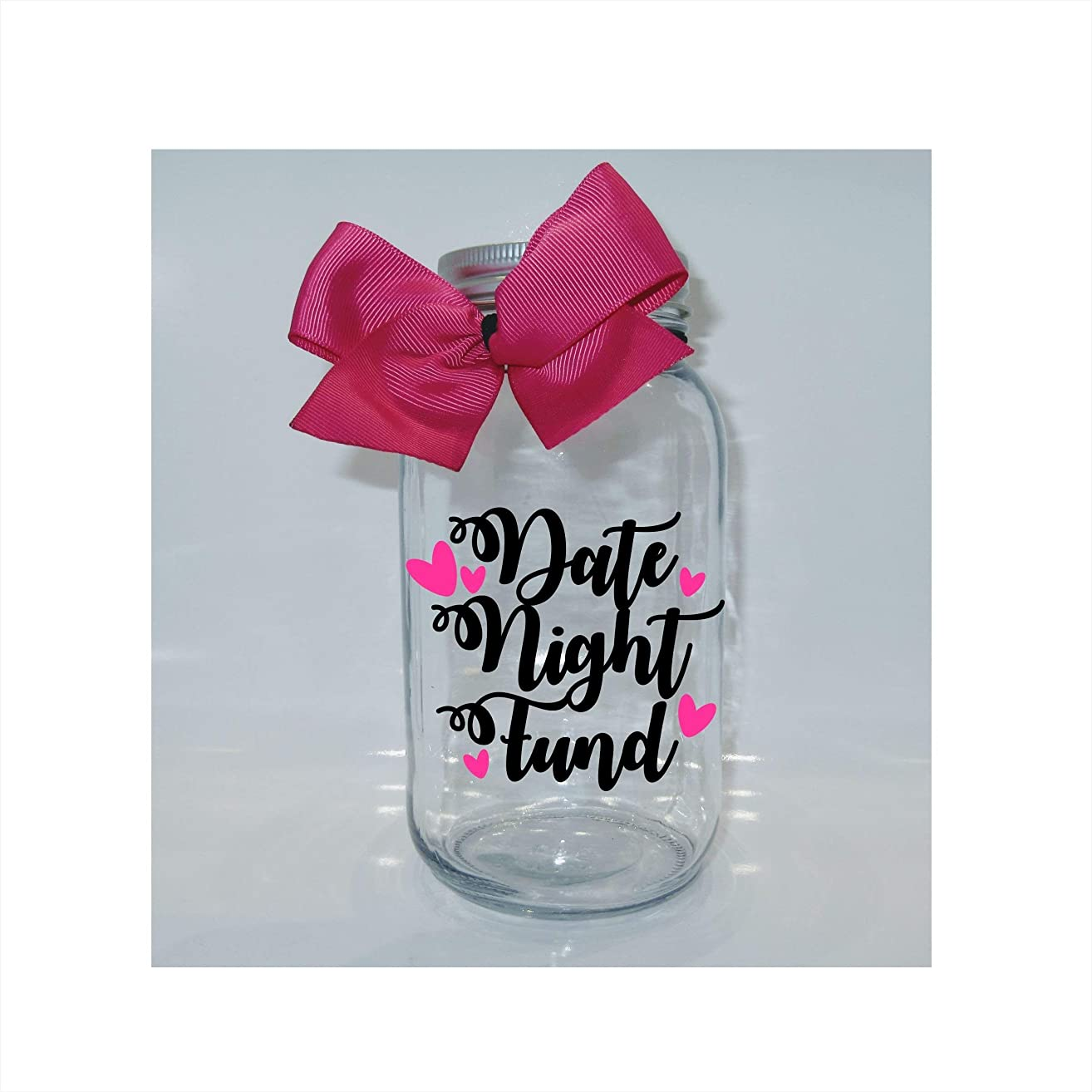 Date Night Fund Mason Jar Bank - Coin Slot Lid - Available in 3 Sizes