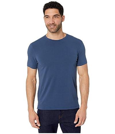 John Varvatos Star U.S.A. Grant Short Sleeve Cotton Crew (Stream Blue) Men