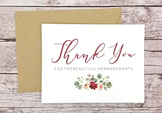 Thank You for the Beautiful Arrangements Card, Florist Thank You Card, Wedding Vendor Thank You (FPS0066)