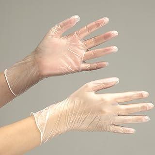 ミドリ安全 使い捨てPVC手袋 ベルテプラテ853 L (粉付き/100枚)