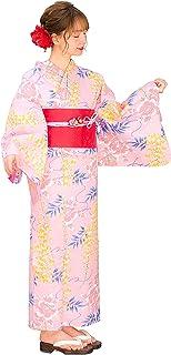 Kimura Jitsugyo Women's Kyoto Traditional Easy Wearing Kawaii Yukata Robe(Japanese Casual Kimono) Full Set 4