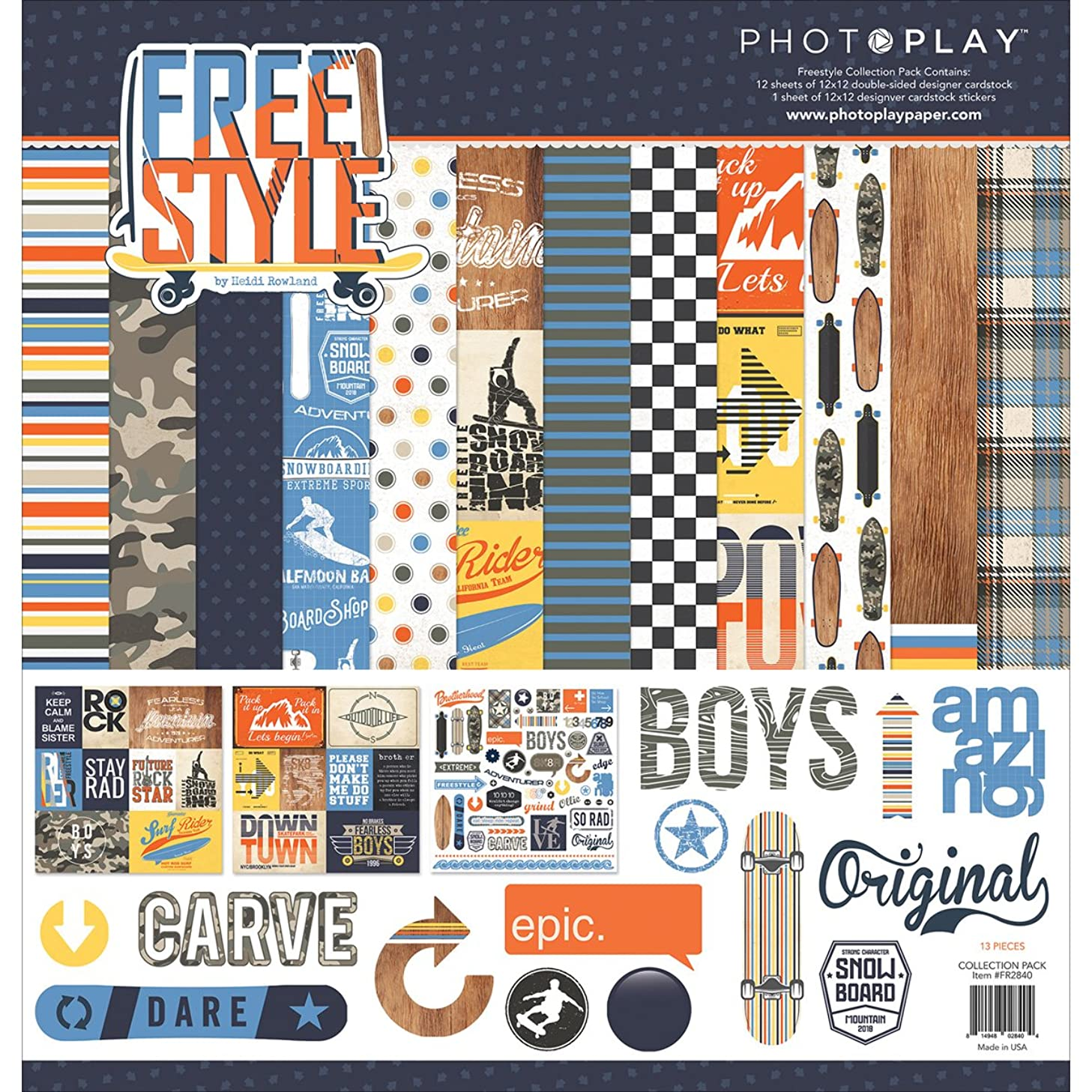 Photoplay Paper Photo Play 12x12 Freestyle Collection Pack