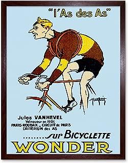Wee Blue Coo Sport Bicycle Advert Vanhevel Winner Paris Roubaix France Art Print Framed Poster Wall Decor 12x16 inch