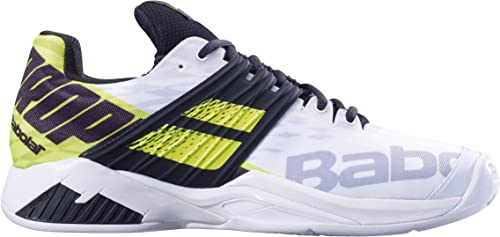 Babolat - Propulse Fury Sandpsmtz Sandpsmtz Sandpsmtz Hommes Chaussure de Tennis (Blanc Jaune) 584