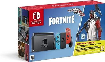 Nintendo Switch - Consola color Azul Neón/Rojo Neón + Fortnite (Código de descarga con contenido adicional)