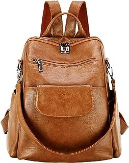 Women Fashion Pu Leather Backpack Purse Waterproof Colloge Bookbag Shoulder Bag