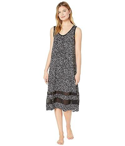 Donna Karan Modal Spandex Jersey 44 Gown (Black Animal) Women