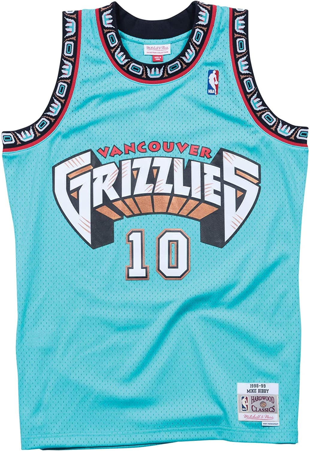 Mike Bibby Vancouver Grizzlies Mitchell and Ness Men's Teal Throwback Jersey