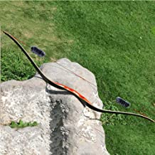 TOPARCHERY Archery 60'' Longbow Outdoor Hunting Recurve Bow and Arrow One Piece..