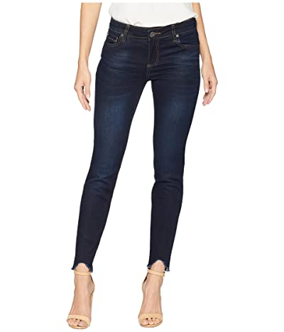 KUT from the Kloth Connie Ankle Skinny w/ Step Fray Hem in Observant (Observant/Euro Base Wash) Women