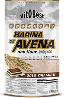 Harina de Avena Sabores Variados - Suplementos Alimentación y Suplementos Deportivos - Vitobest (Galleta, 1 Kg)