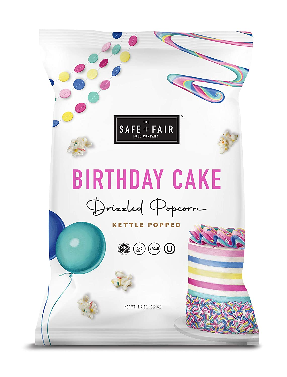 Birthday Cake gift Drizzled Popcorn 5 Count 55% OFF 7.5oz