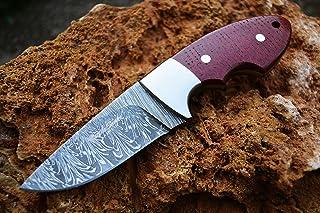Image of 'Snowdown Hunter' Custom Damascus Handmade Hunting Knife. Top Quality