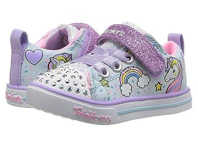 SKECHERS KIDS Twinkle Toes Sparkle Lite Unicorn Craze 10988N Lights (Toddler) (Light Blue/Multi) Girl
