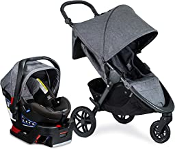 Best Britax B-Free Travel System with B-Safe Ultra Infant Car Seat - Birth to 65 Pounds | All Terrain Tires + Adjustable Handlebar + Extra Storage with Front Access + One Hand, Easy Fold, Vibe Review