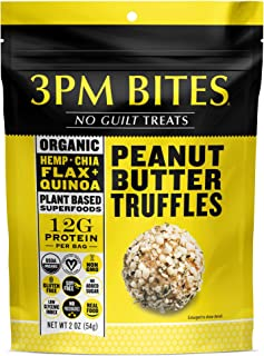 3PM Bites - Portable High Protein Snack | 100% Organic Superfood | Vegan | No Sugar Added | No Preservatives or Sugar Substitutes | 3 Flavors Perfect for Low Carb & Keto Nutrition…