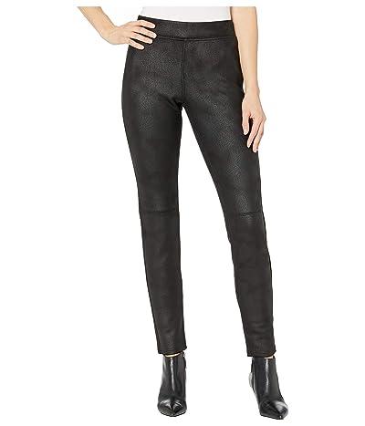 HUE Textured Microsuede Leggings (Black) Women