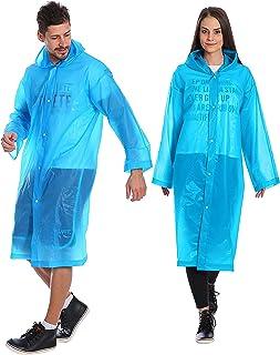 Kurtzy Waterproof Rain coat for Men & Women  Pack of 2 (Large - Blue)