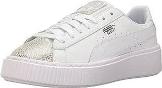 PUMA Kids' Basket Platform Glitz Sneaker