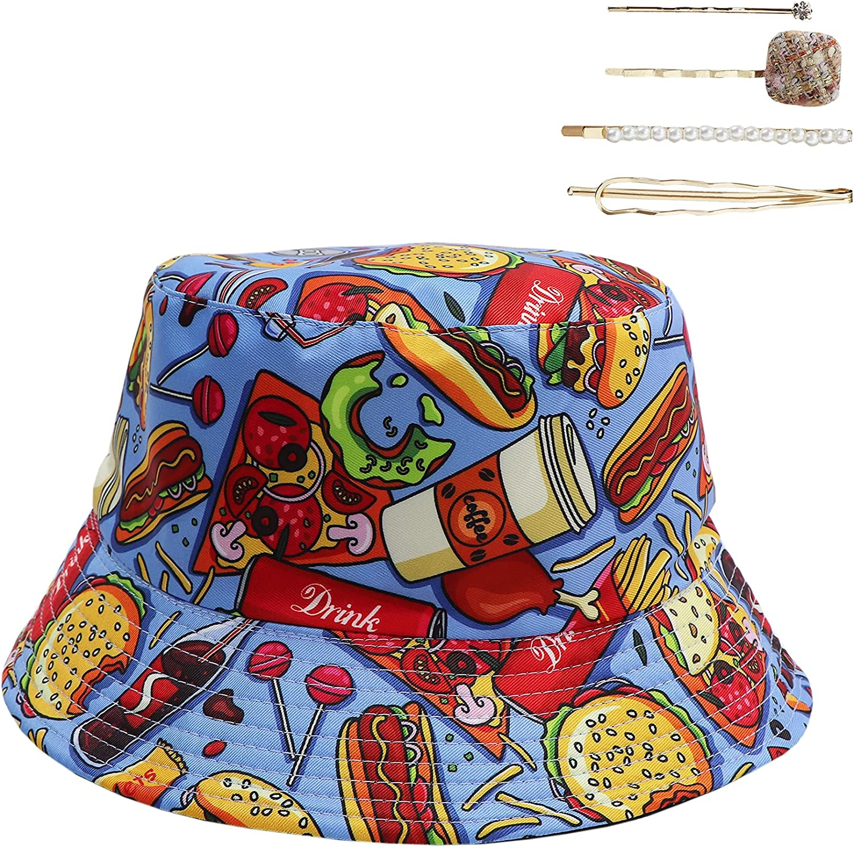 jiaoji Bucket Hat Unisex Beach Sun Hat for Men Women Teens Summer Outdoor Cap