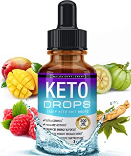Keto Diet Drops Weight Loss Ketogenic Supplement - Premium Fat Burner Formula to Boost Metabolism, Suppress Appetite & Cra...