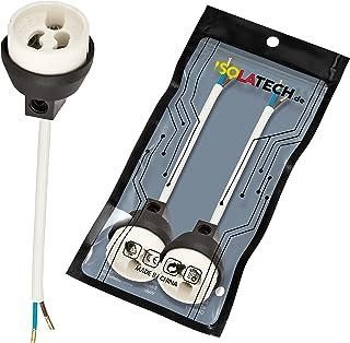 Lampbaser GU10-uttag. Brandhämmande keramiska lamphållare med krusade trådändhylsor för LED- och halogenlampor VDE RoHS 23...