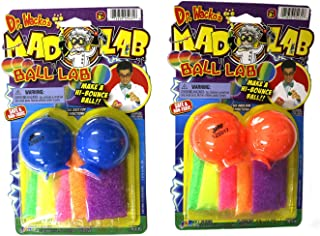 Dr. Wacko's Mad Lab Ball Lab Make a Hi-Bounce Ball (2 pack assorted colors)