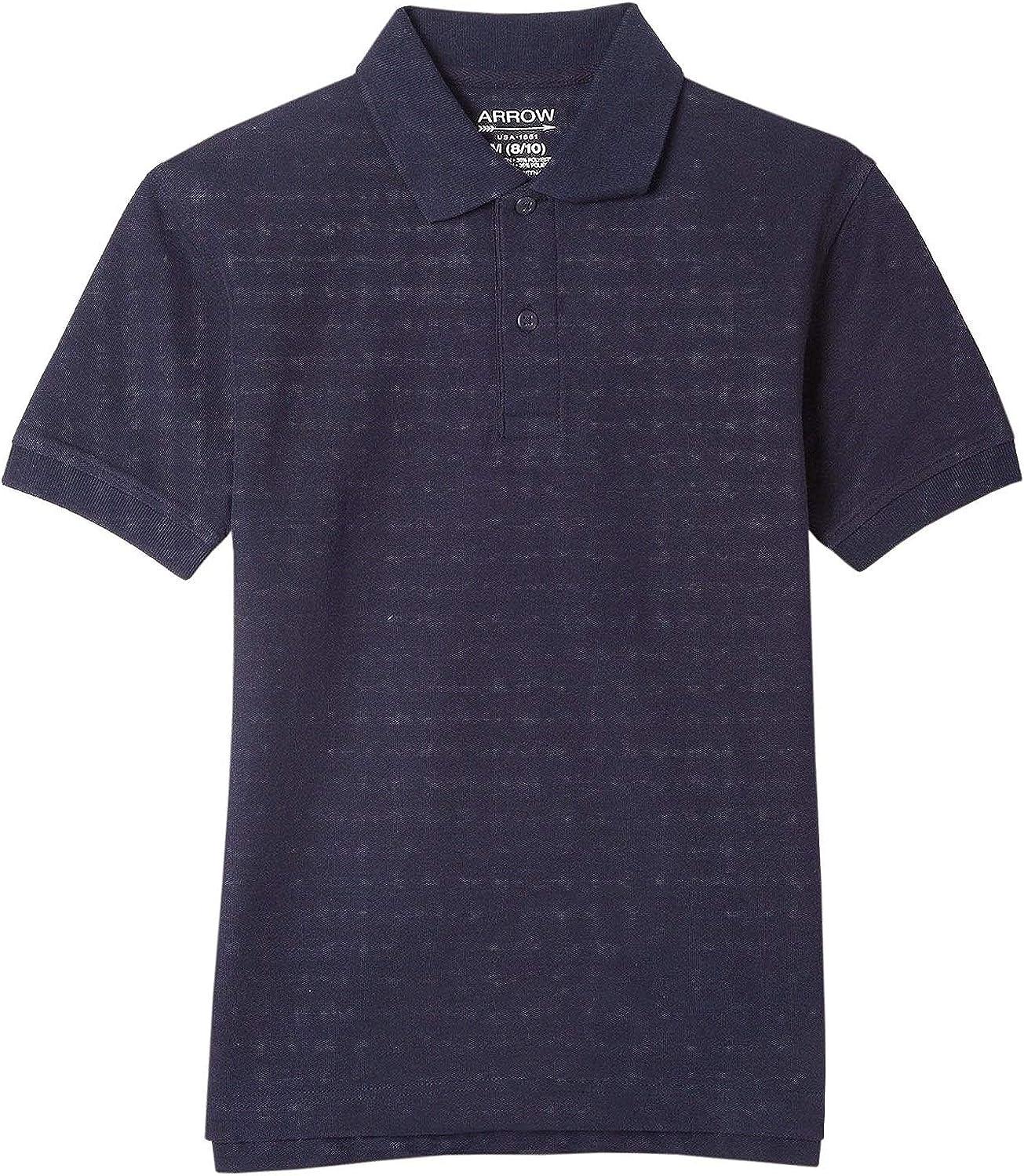 Arrow Approved Schoolwear Boys Short Sleeve Polo, Navy Blue, XL/XG (16)