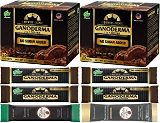 PureGano Premium Ganoderma Black Instant Coffee - 180mg Red Reishi Mushroom Lingzhi Lucidum Extract 2 in 1 Sugar Free - 2 ...