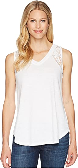 Jersey Slub Cami with Lace Detail
