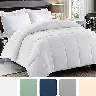 Cosy House Collection Premium Down Alternative Comforter - White - All Season Hypoallergenic Bedding - Lightweight and Machine Washable - Duvet Insert - (Full/Queen)