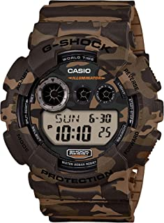 Casio G-Shock For Men Camouflage Digital Dial Resin Band Watch - Gd-120Cm-5, Japanese Quartz Movement