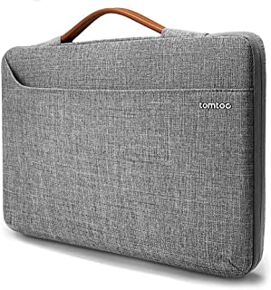 tomtoc 15.6 Inch 360° Protective Laptop Sleeve Compatible with 15-15.6 Inch Acer Aspire E 15 | HP Dell Asus ThinkPad Samsung Chromebook Notebook,with Handle & Accessory Pocket Zipper Bag Gray