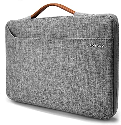 """tomtoc 14 inch Laptop Sleeve Handle Zipper Case Compatible with 15"""" New MacBook Pro Touch Bar Late 2016-2018 A1990 A1707 
