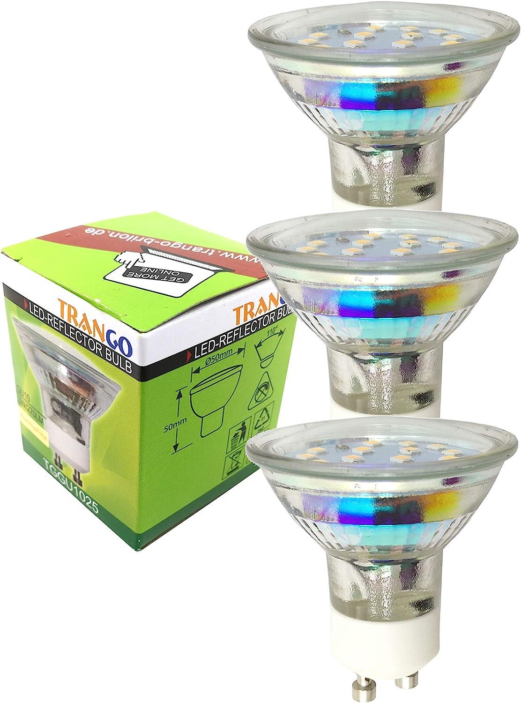 Trango 6-flammig LED Deckenleuchte TG2991-068-6W Deckenlampe I Wohnzimmer Lampe I Deckenstrahler incl. 6x 5 Watt GU10 LED Leuchtmittel, 3000K warmweiß, Deckenstrahler, Deckenspots, Spots 3-flammig Tg2890-038-6c