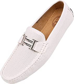 de54e75267b8f Amali Men s Smooth and Perforated Driving Moccasin Casual Loafer Driving  Shoes