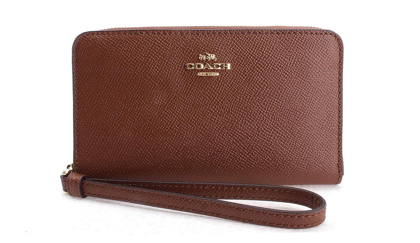 Coach Women's Crossgrain Leather Phone Wallet