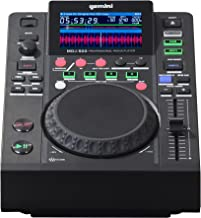 "Gemini MDJ Series MDJ-500 Professional Audio DJ Media Player with 4.3-Inch Full Color Display Screen, 5"" Jog Wheel, and Pr..."