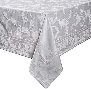 "Benson Mills Harmony Scroll Tablecloth (60"" X 104"" Rectangular, White)"