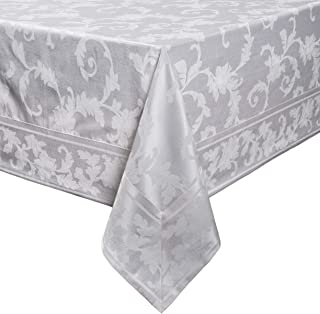 Harmony Scroll Tablecloth (White, 60
