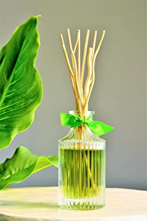 Manu Home Fresh Reed Diffuser Set | Clean, Refreshing, Energizing Aroma of Lily-of-The-Valley, Jasmine, Rose Ylang and Sandalwood | Best Essential Oils Used