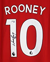 Wayne Rooney Signed Autographed Manchester United #10 Red Jersey COA