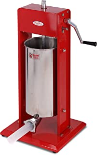 Hakka Sausage Stuffer 11 Lb/5 L Two Fill Rate Spray-painted Steel Vertical 7-11 Lb Sausage Maker