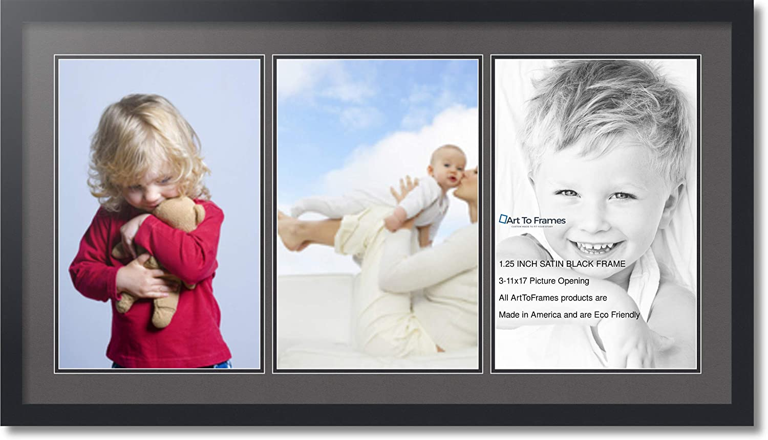 Max 77% OFF Max 83% OFF ArtToFrames Collage Photo Frame Double Mat with - Openin 3 11x17