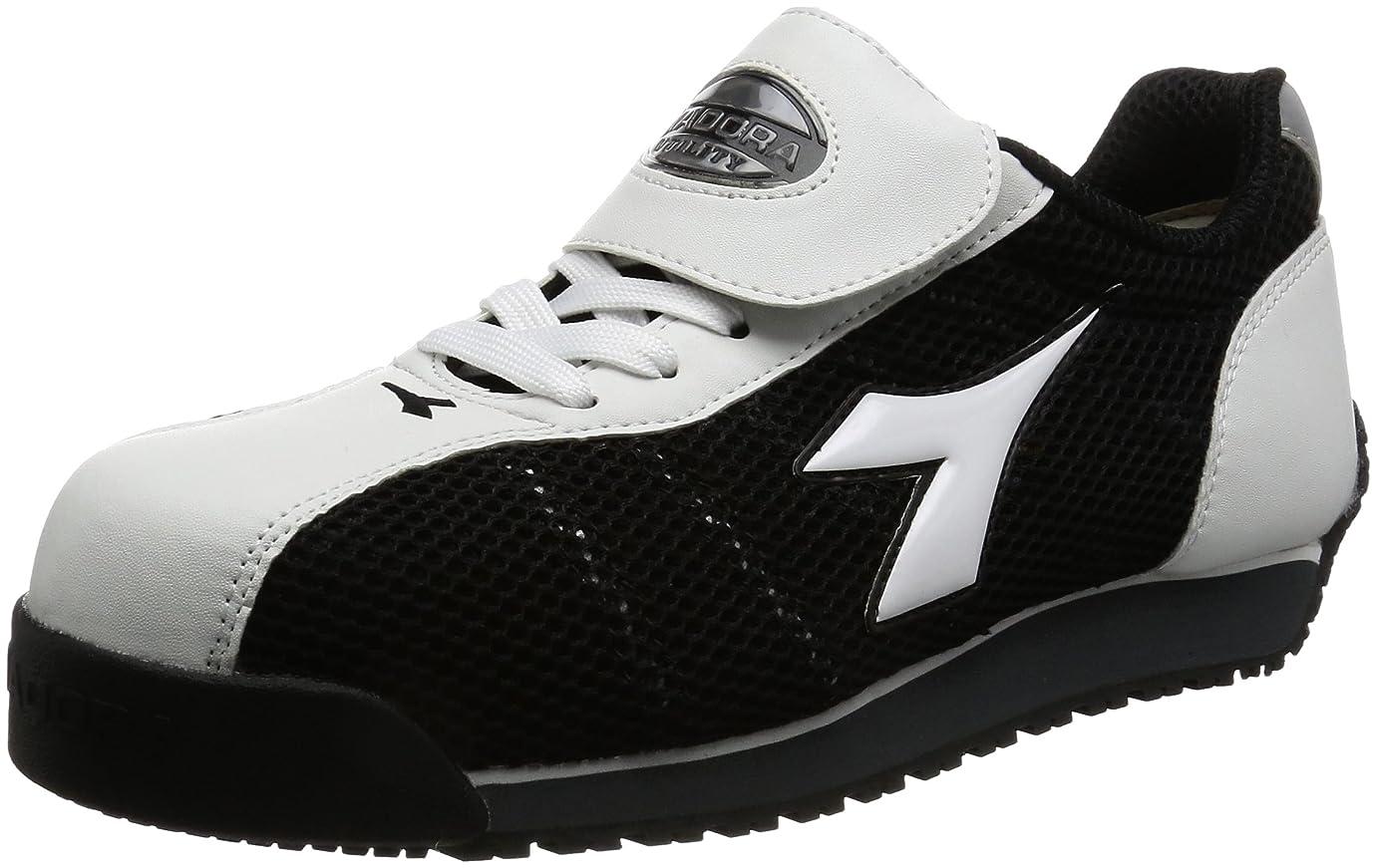 鋼信者失作業靴 スニーカー キングフィッシャー KF12 KF12 ホワイト&ブラック(ホワイト&ブラック/26.0)